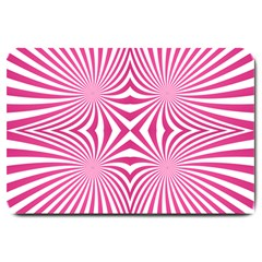 Hypnotic Psychedelic Abstract Ray Large Doormat  by Alisyart