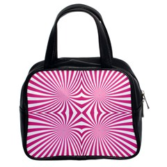 Hypnotic Psychedelic Abstract Ray Classic Handbag (two Sides) by Alisyart