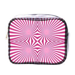 Hypnotic Psychedelic Abstract Ray Mini Toiletries Bag (one Side) by Alisyart