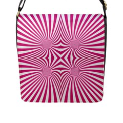 Hypnotic Psychedelic Abstract Ray Flap Closure Messenger Bag (l) by Alisyart