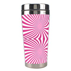 Hypnotic Psychedelic Abstract Ray Stainless Steel Travel Tumblers