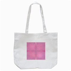 Hypnotic Psychedelic Abstract Ray Tote Bag (white) by Alisyart