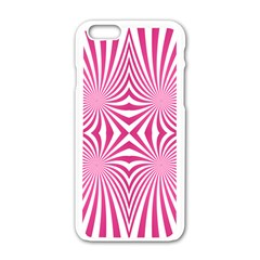 Hypnotic Psychedelic Abstract Ray Apple Iphone 6/6s White Enamel Case