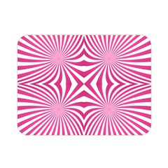 Hypnotic Psychedelic Abstract Ray Double Sided Flano Blanket (mini)
