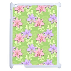Lily Flowers Green Plant Apple Ipad 2 Case (white)