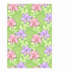 Lily Flowers Green Plant Small Garden Flag (two Sides)