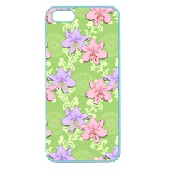 Lily Flowers Green Plant Apple Seamless Iphone 5 Case (color)