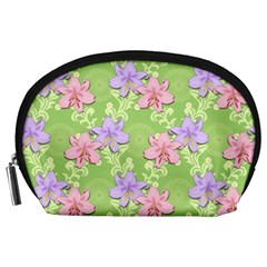 Lily Flowers Green Plant Accessory Pouch (large)