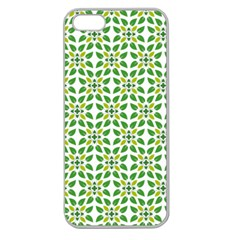 Leaf Leaves Flora Apple Seamless Iphone 5 Case (clear)