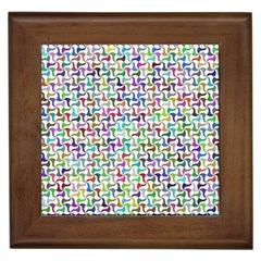 Geometric Floral Shape Geometrical Framed Tiles by AnjaniArt