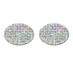Geometric Floral Shape Geometrical Cufflinks (oval)