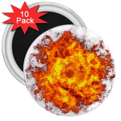 Fire Transparent 3  Magnets (10 Pack)