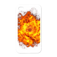 Fire Transparent Apple Iphone 4 Case (white)