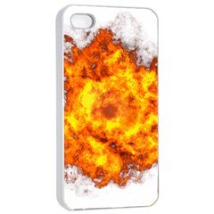 Fire Transparent Apple Iphone 4/4s Seamless Case (white)