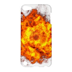 Fire Transparent Apple Ipod Touch 5 Hardshell Case by AnjaniArt