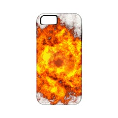 Fire Transparent Apple Iphone 5 Classic Hardshell Case (pc+silicone)
