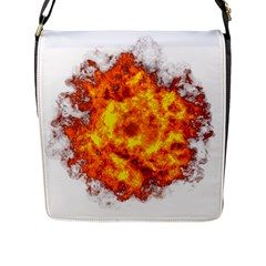 Fire Transparent Flap Closure Messenger Bag (l)