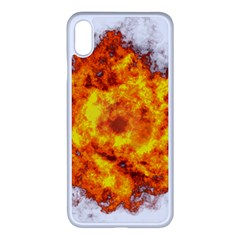Fire Transparent Apple Iphone Xs Max Seamless Case (white) by AnjaniArt