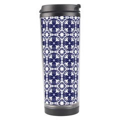 Flower Decorative Travel Tumbler by AnjaniArt