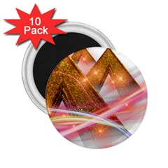 Golden Triangle 2 25  Magnets (10 Pack)  by AnjaniArt