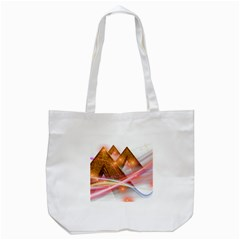 Golden Triangle Tote Bag (white)