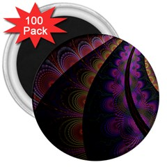 Fractal Colorful Pattern Spiral 3  Magnets (100 Pack) by AnjaniArt