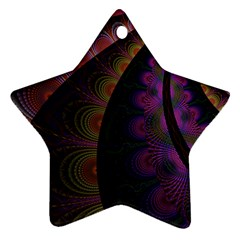 Fractal Colorful Pattern Spiral Star Ornament (two Sides)