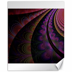 Fractal Colorful Pattern Spiral Canvas 11  X 14