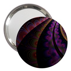 Fractal Colorful Pattern Spiral 3  Handbag Mirrors by AnjaniArt