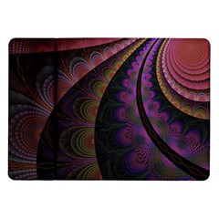 Fractal Colorful Pattern Spiral Samsung Galaxy Tab 10 1  P7500 Flip Case by AnjaniArt