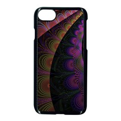 Fractal Colorful Pattern Spiral Apple Iphone 7 Seamless Case (black)