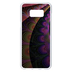 Fractal Colorful Pattern Spiral Samsung Galaxy S8 Plus White Seamless Case by AnjaniArt