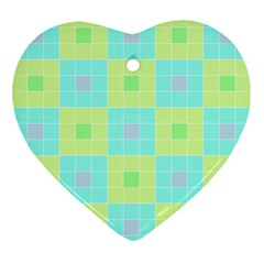 Grid Geometric Pattern Colorful Ornament (heart)