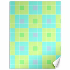 Grid Geometric Pattern Colorful Canvas 36  X 48