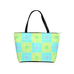 Grid Geometric Pattern Colorful Classic Shoulder Handbag by AnjaniArt