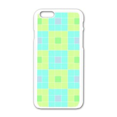 Grid Geometric Pattern Colorful Apple Iphone 6/6s White Enamel Case