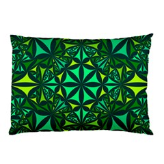 Green Triangle Pattern Kaleidoscope Pillow Case (two Sides)