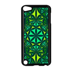 Green Triangle Pattern Kaleidoscope Apple Ipod Touch 5 Case (black)
