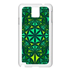 Green Triangle Pattern Kaleidoscope Samsung Galaxy Note 3 N9005 Case (white)