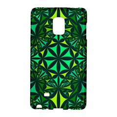 Green Triangle Pattern Kaleidoscope Samsung Galaxy Note Edge Hardshell Case