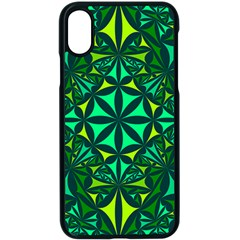 Green Triangle Pattern Kaleidoscope Apple Iphone X Seamless Case (black)