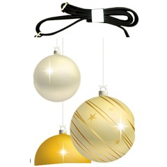 Hanging Christmas Balls Shoulder Sling Bag