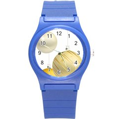 Hanging Christmas Balls Round Plastic Sport Watch (s) by AnjaniArt