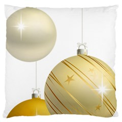Hanging Christmas Balls Large Cushion Case (two Sides)