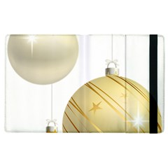Hanging Christmas Balls Apple Ipad 2 Flip Case by AnjaniArt