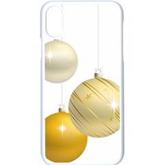 Hanging Christmas Balls Apple Iphone Xs Seamless Case (white)