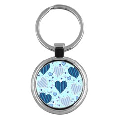 Hearts Pattern Key Chains (round)  by AnjaniArt