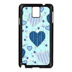 Hearts Pattern Samsung Galaxy Note 3 N9005 Case (black) by AnjaniArt