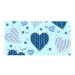 Hearts Pattern Satin Wrap by AnjaniArt
