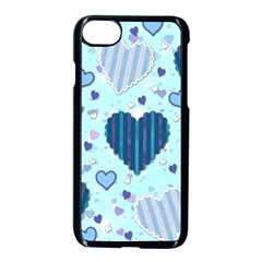 Hearts Pattern Apple Iphone 7 Seamless Case (black)